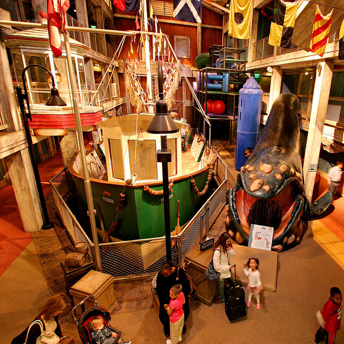 Harbor and Sea Themed Playground Inside of Georgia Aquarium