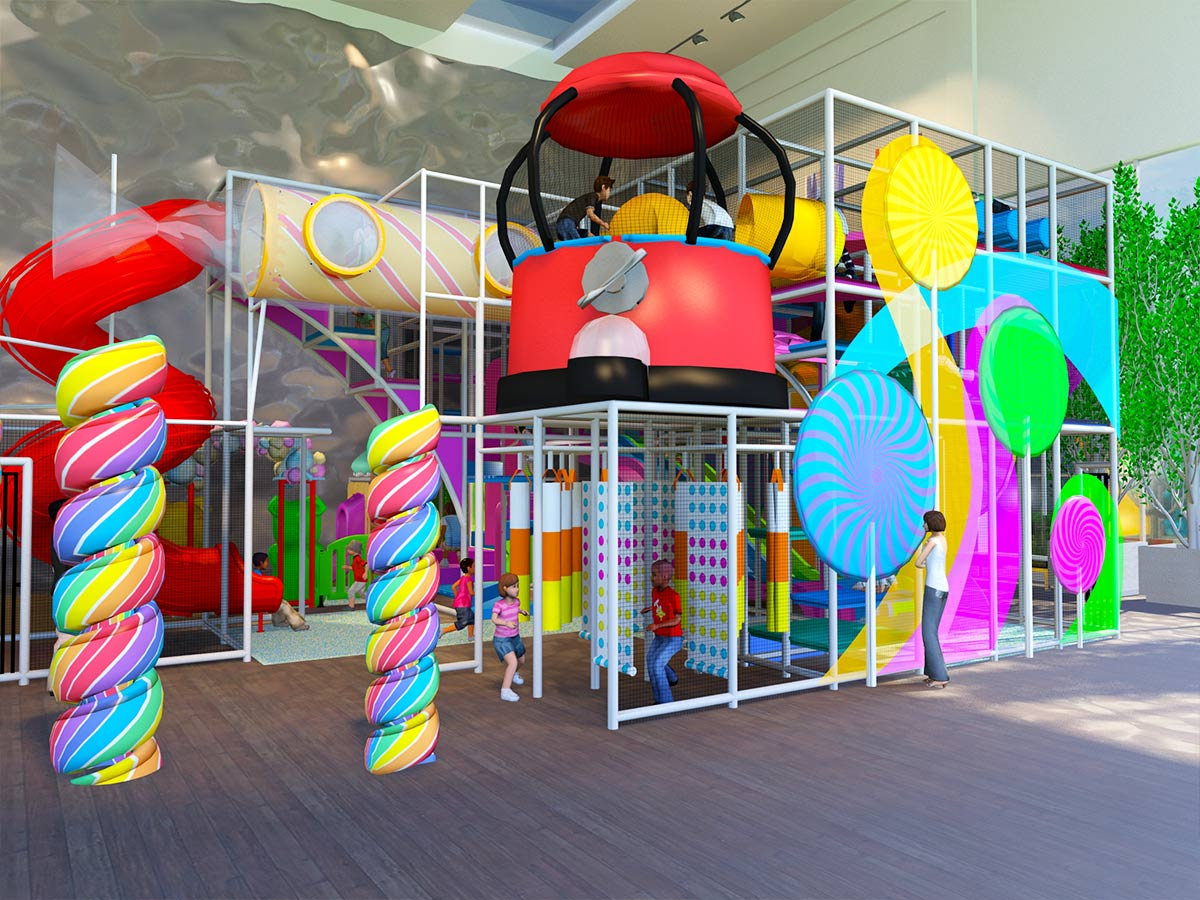 Large Candyland Themed Playground Design