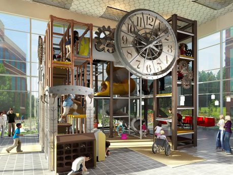 Clock Tower Themed Indoor Playground