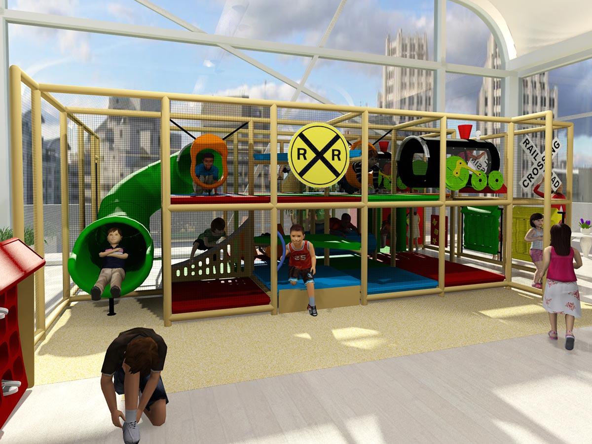 Train Station Themed Indoor Playground