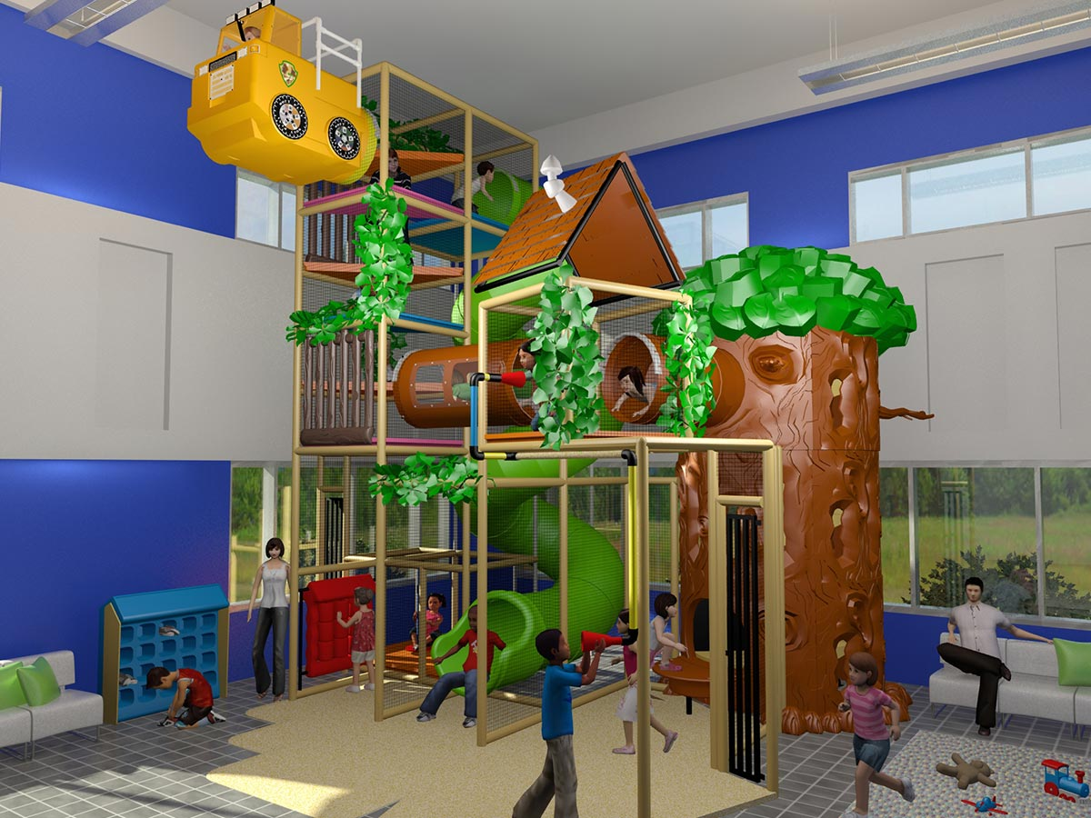 Large indoor Kid's Clubhouse Themed Playground Design