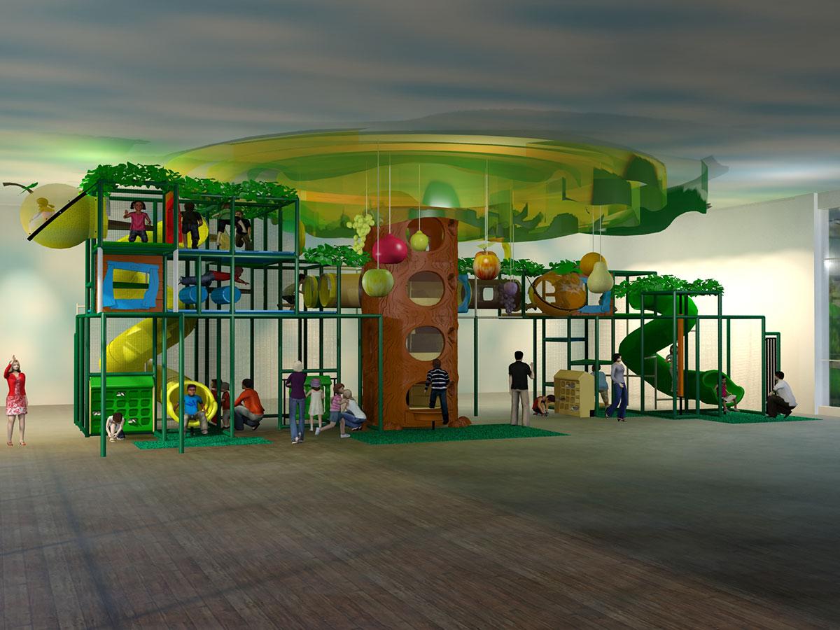 Large Fruit Themed Playground