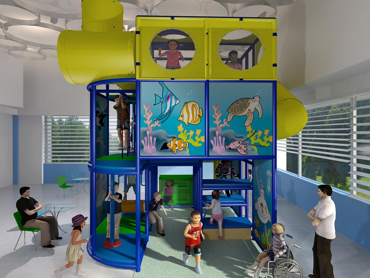 Side View of Under the Sea Themed Playground