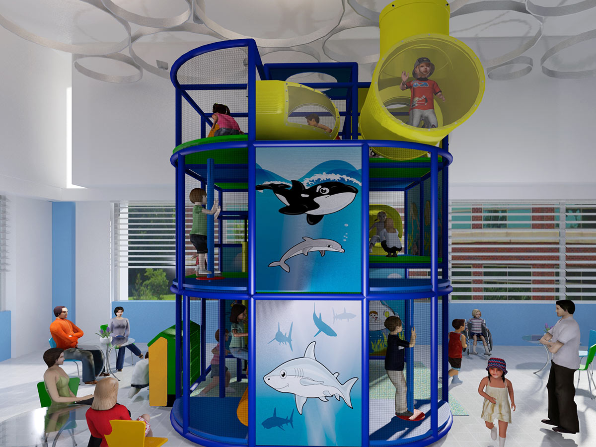 Cylinder Shaped Ocean Themed Playground