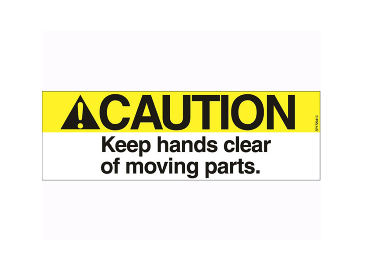 Caution Moving Parts