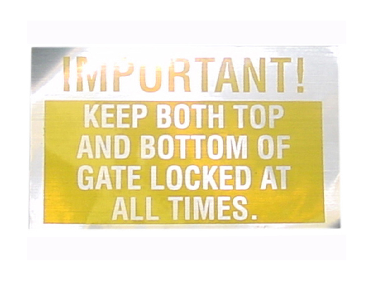 Keep Gate Locked
