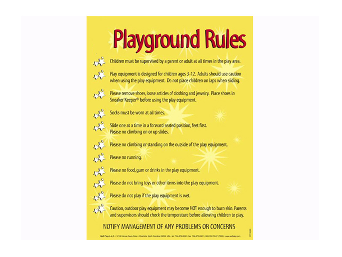playground rules soft play