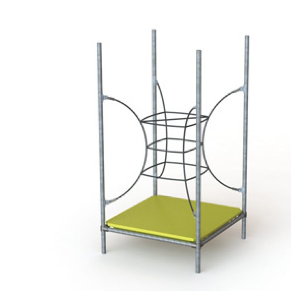curved ladder playground obstacle