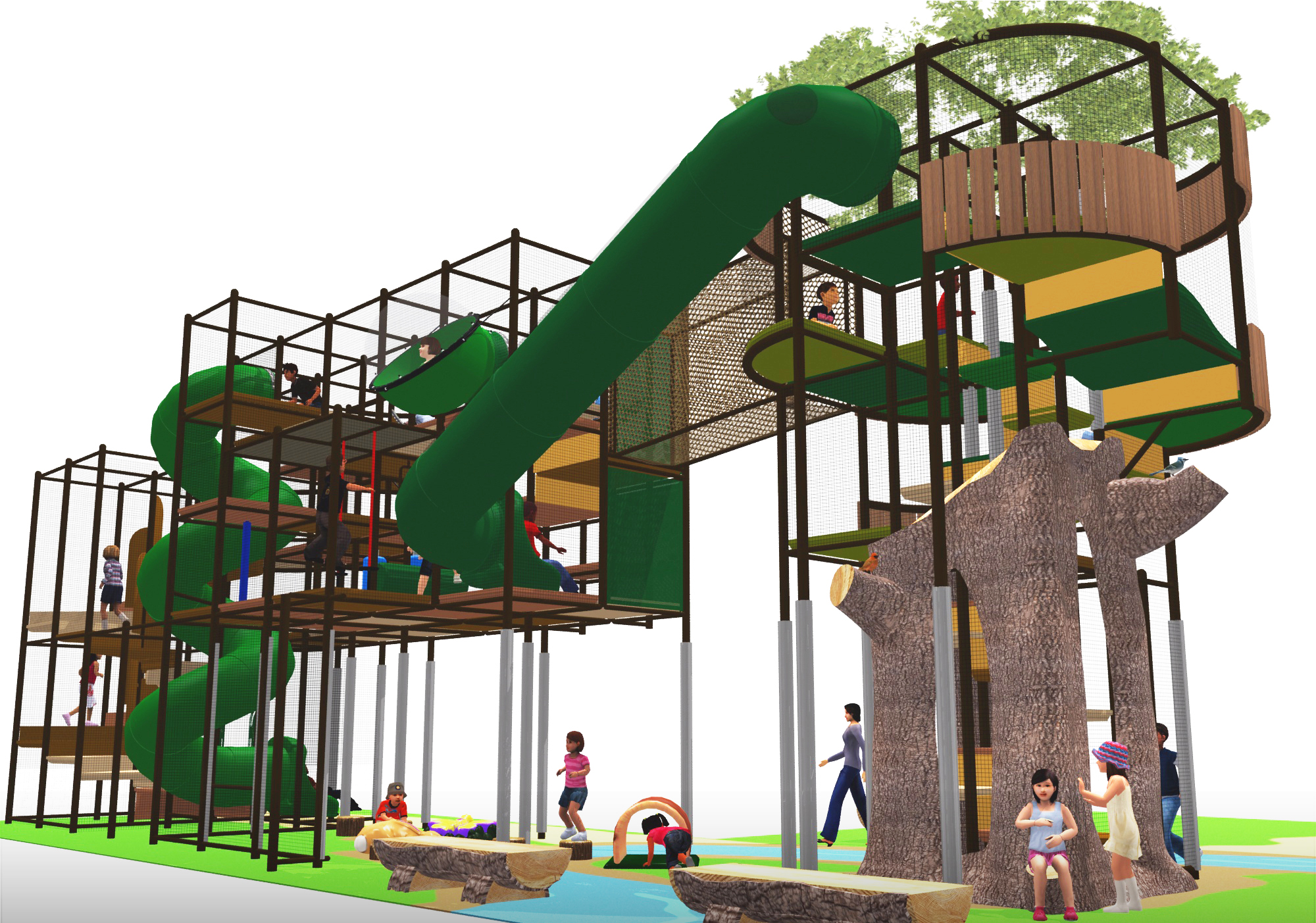 large outdoor play area design