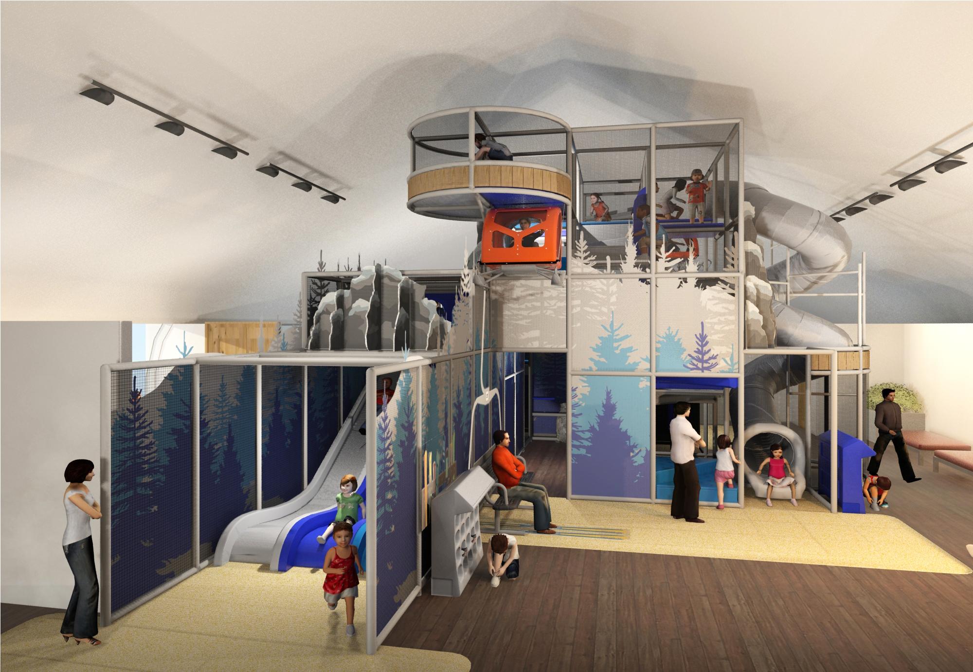 Ski resort play area ideas
