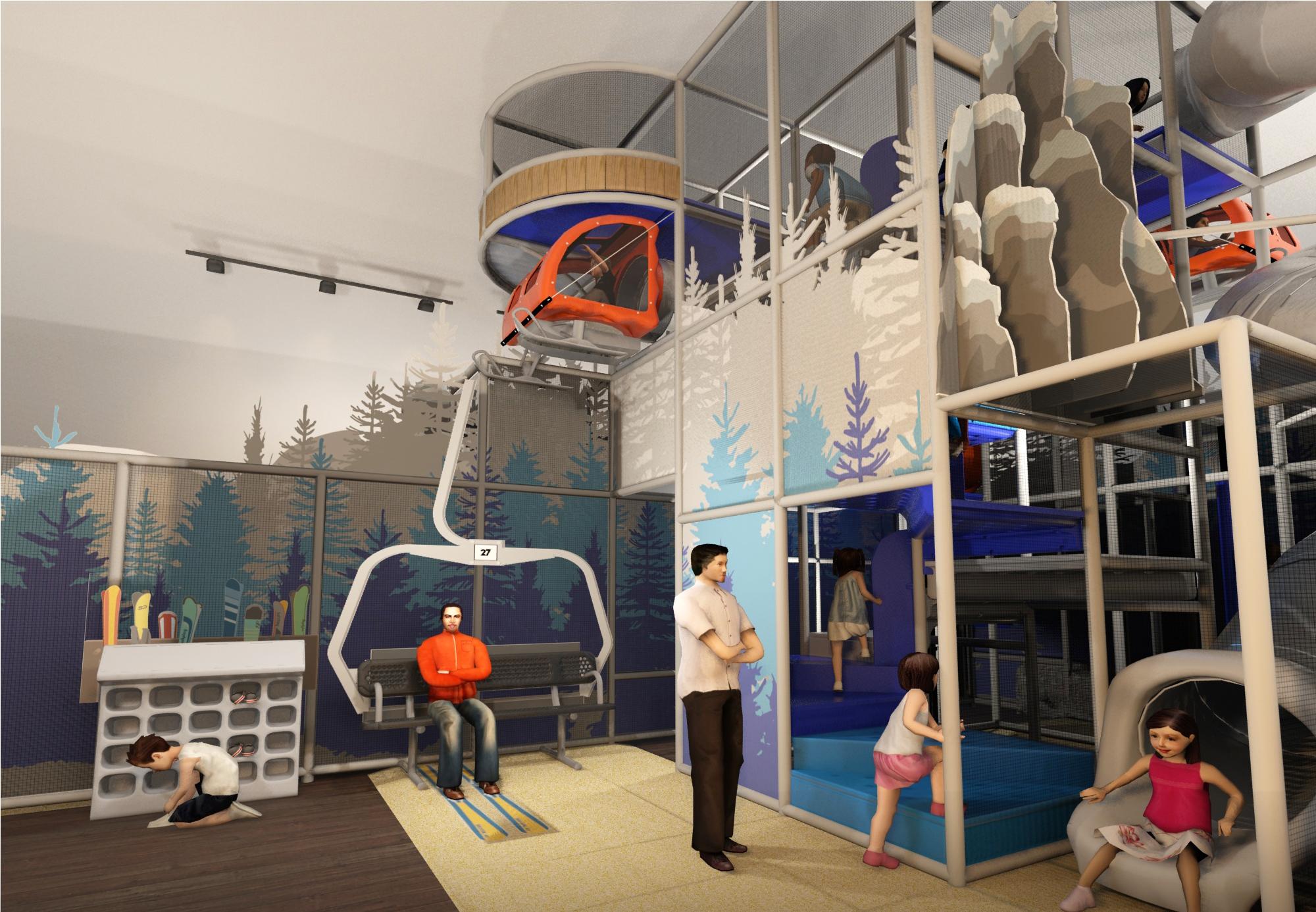 Ski resort play area