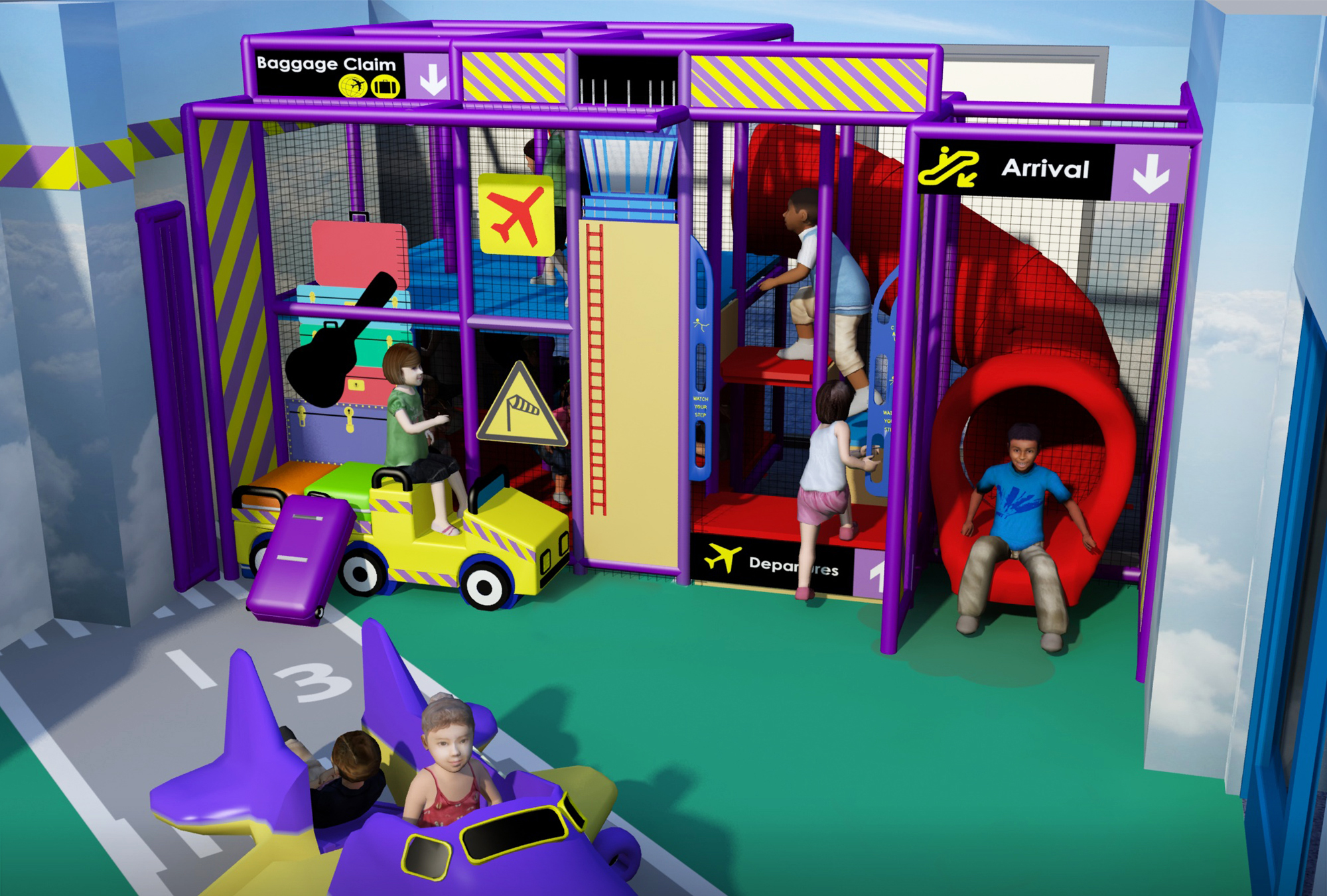 Airport play area elements