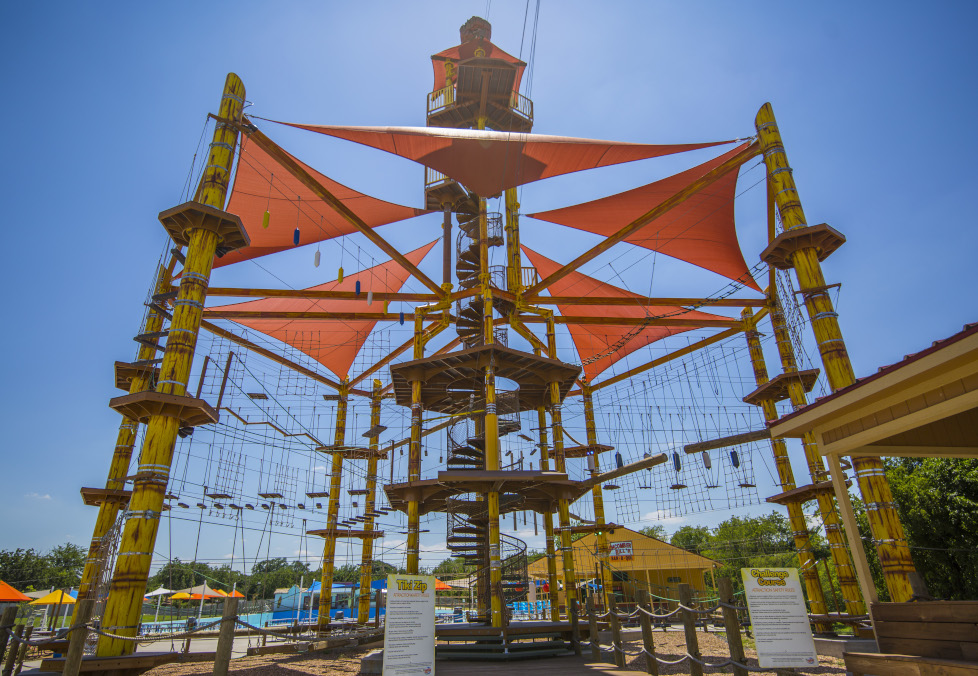 High Rope Belayed Adventure Course in Texas
