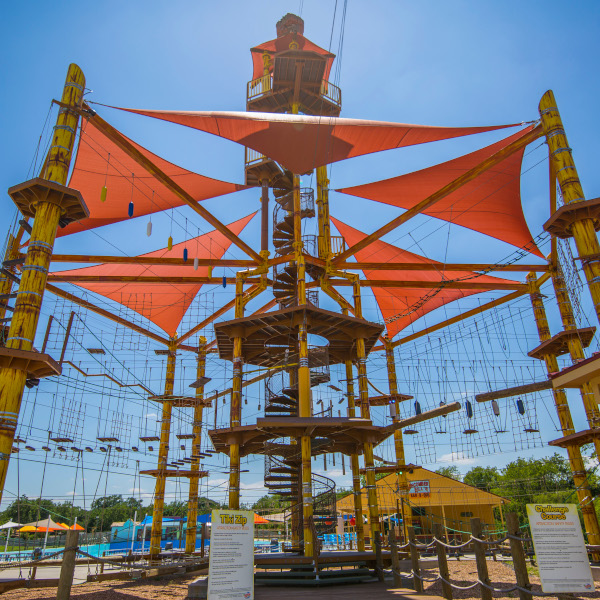 High ropes course in Texas