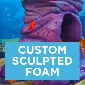 Custom Sculpted Foam button