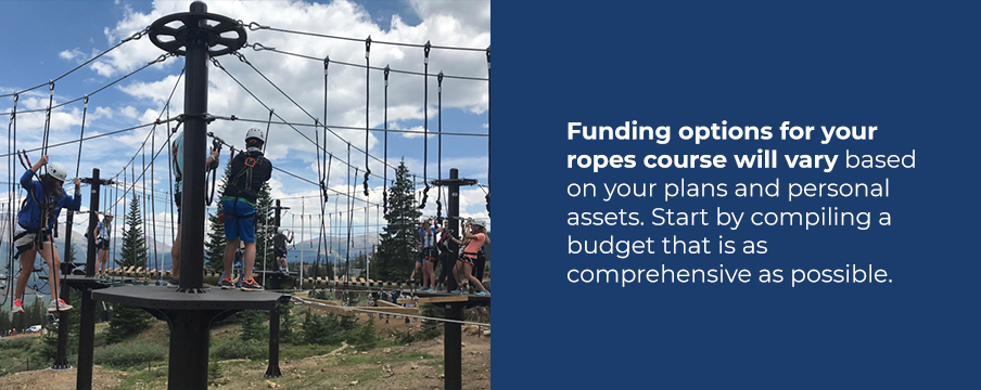 Ropes course funding options