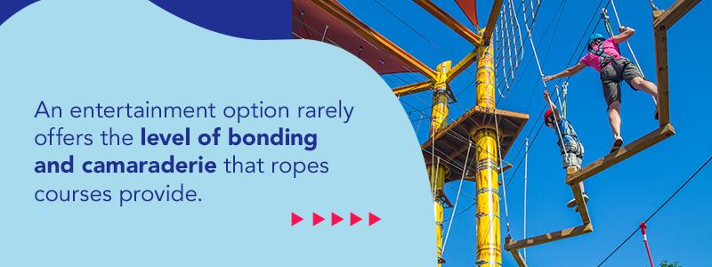 Ropes Course Bonding Benefit