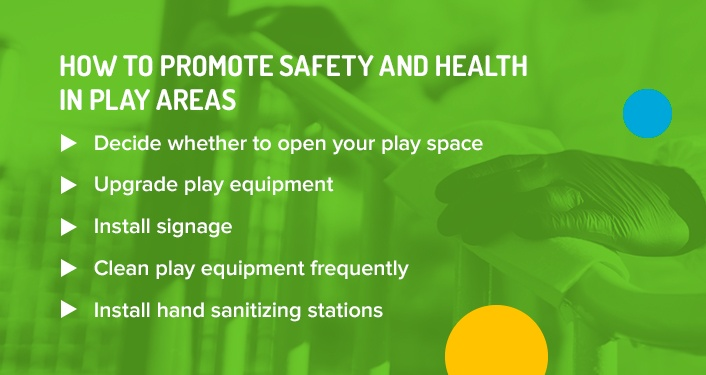 How to promote safety and health in play areas