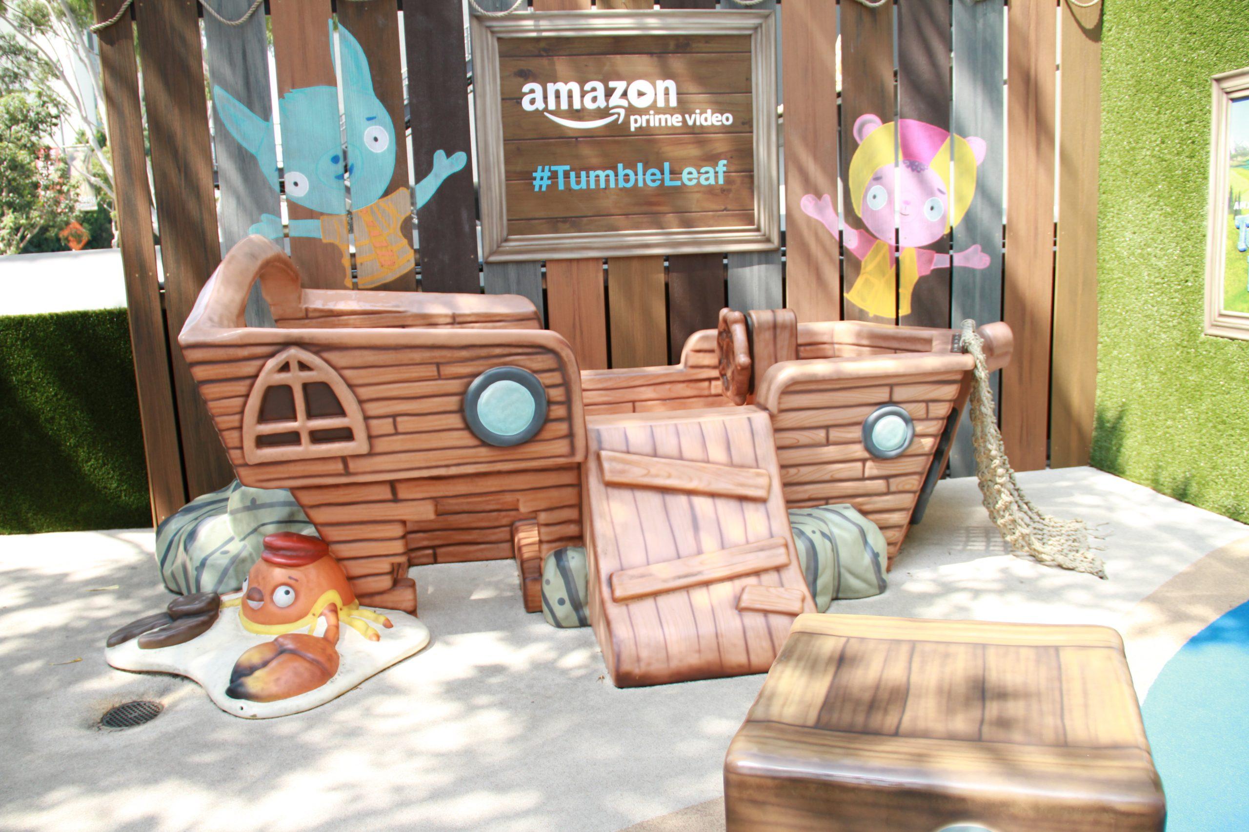 Amazon branded sculpture
