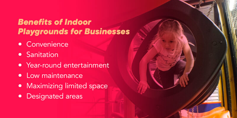 Benefits of indoor playgrounds for businesses