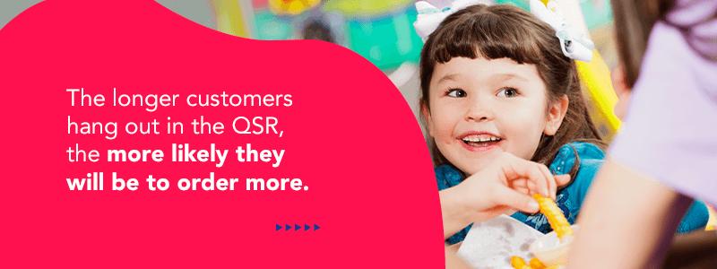Longer customers hang out at QSRs