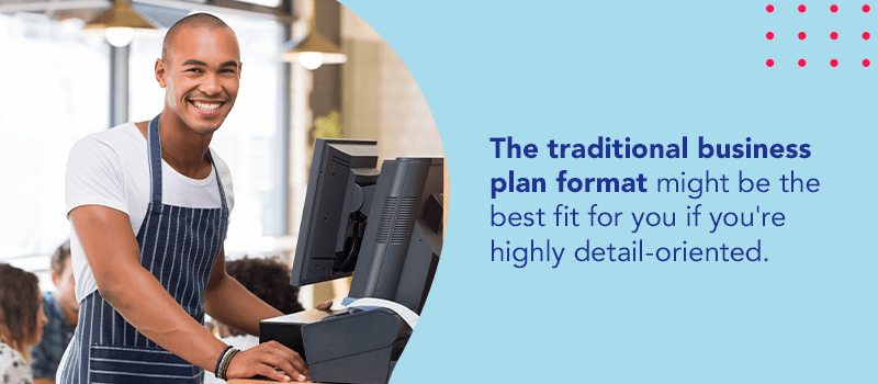 Traditional business plan format