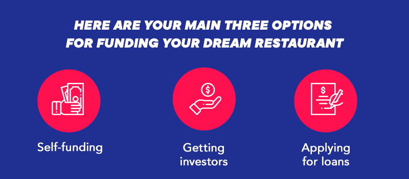 Three options for funding