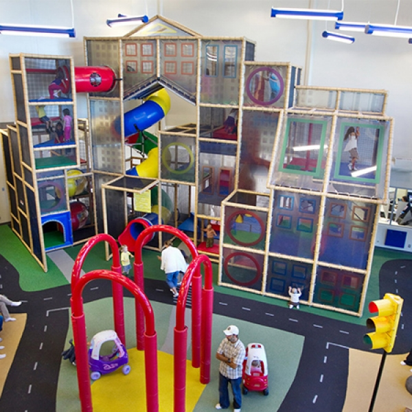 Large Clear Indoor Playground Installed in Community Recreation Center Alberta Canada