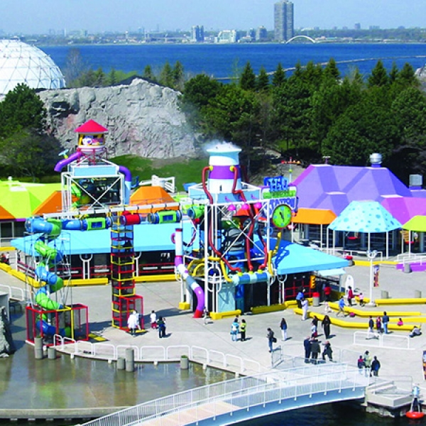Large Outdoor Playground with Multiple Sections for Retail Centers